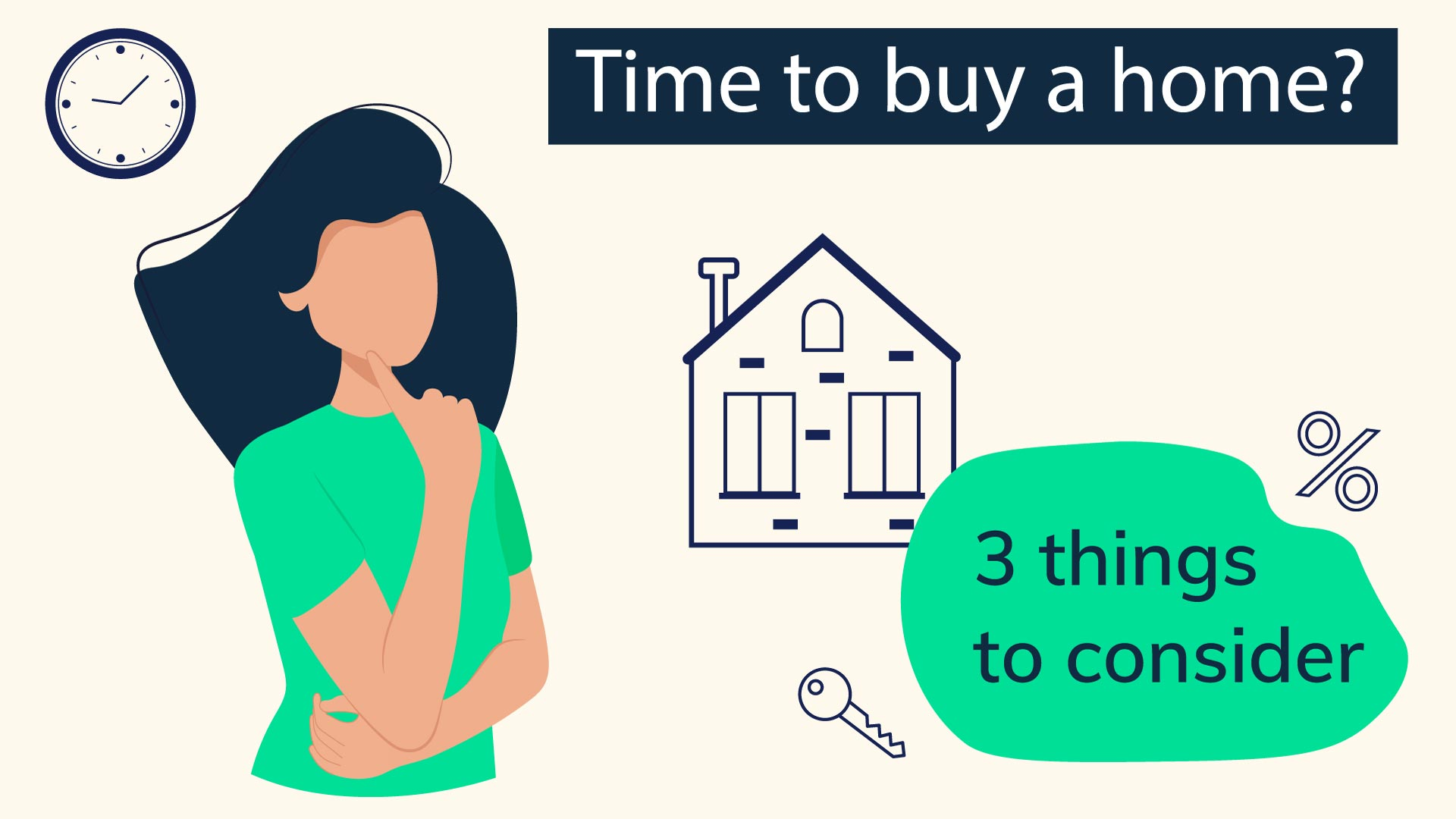 Woman thinking about buying a house