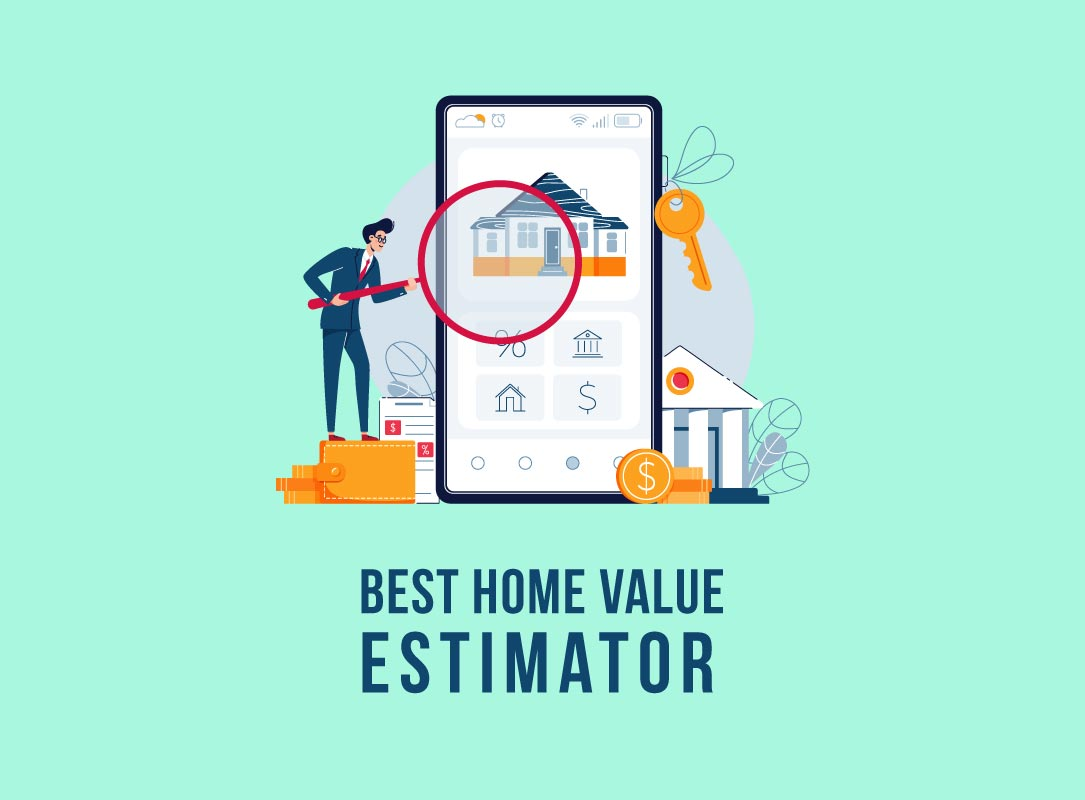 a phone displaying home value estimators