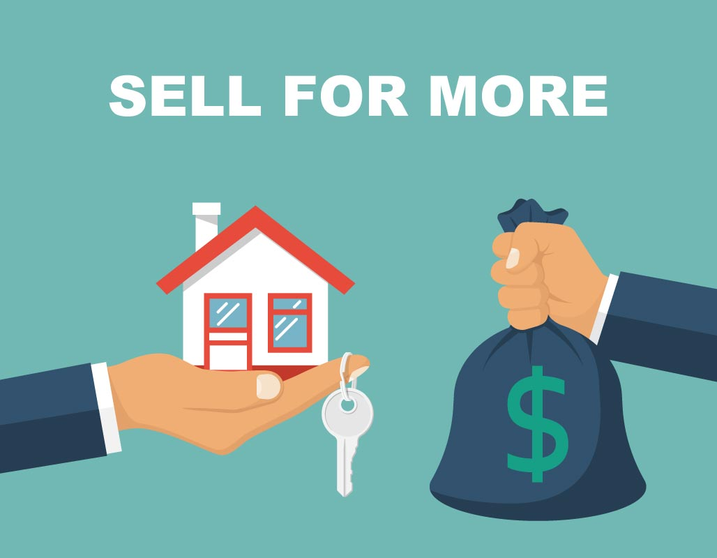 A hand selling a FSBO house for cash