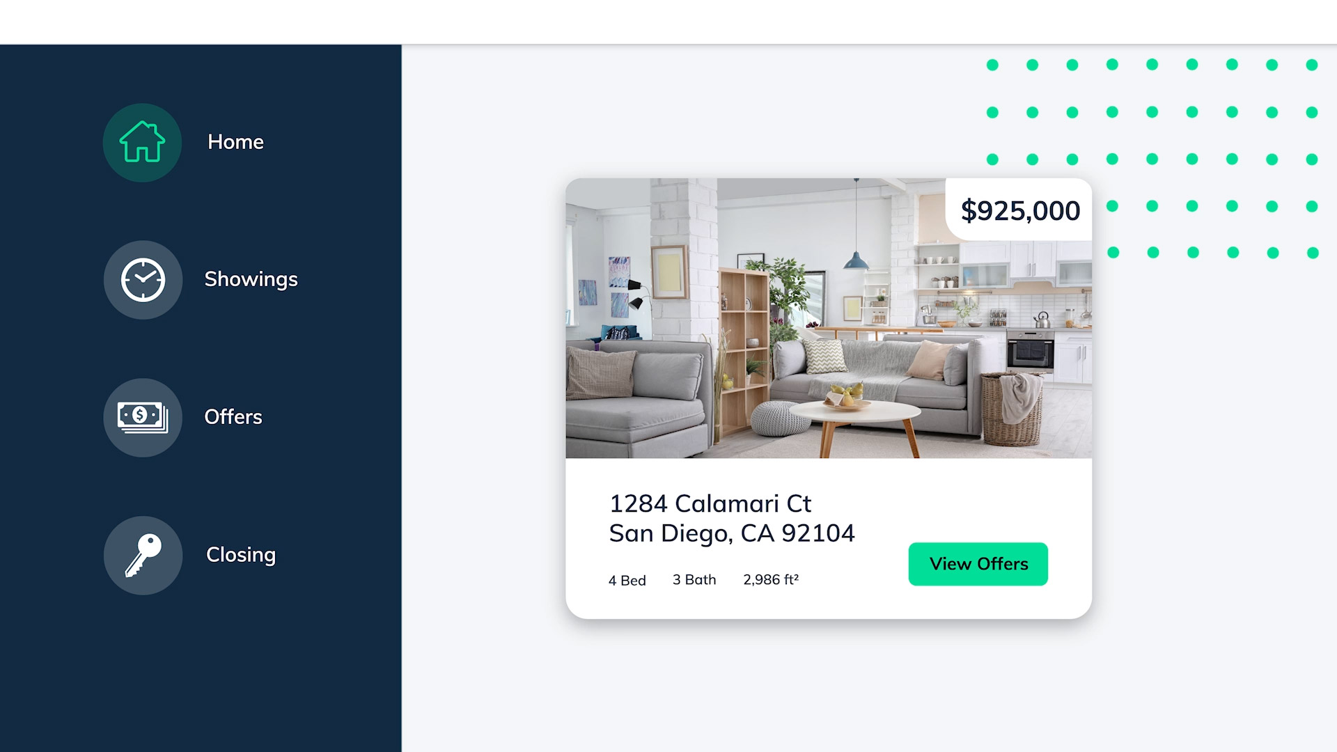 Displaying offers from buyers in online dashboard