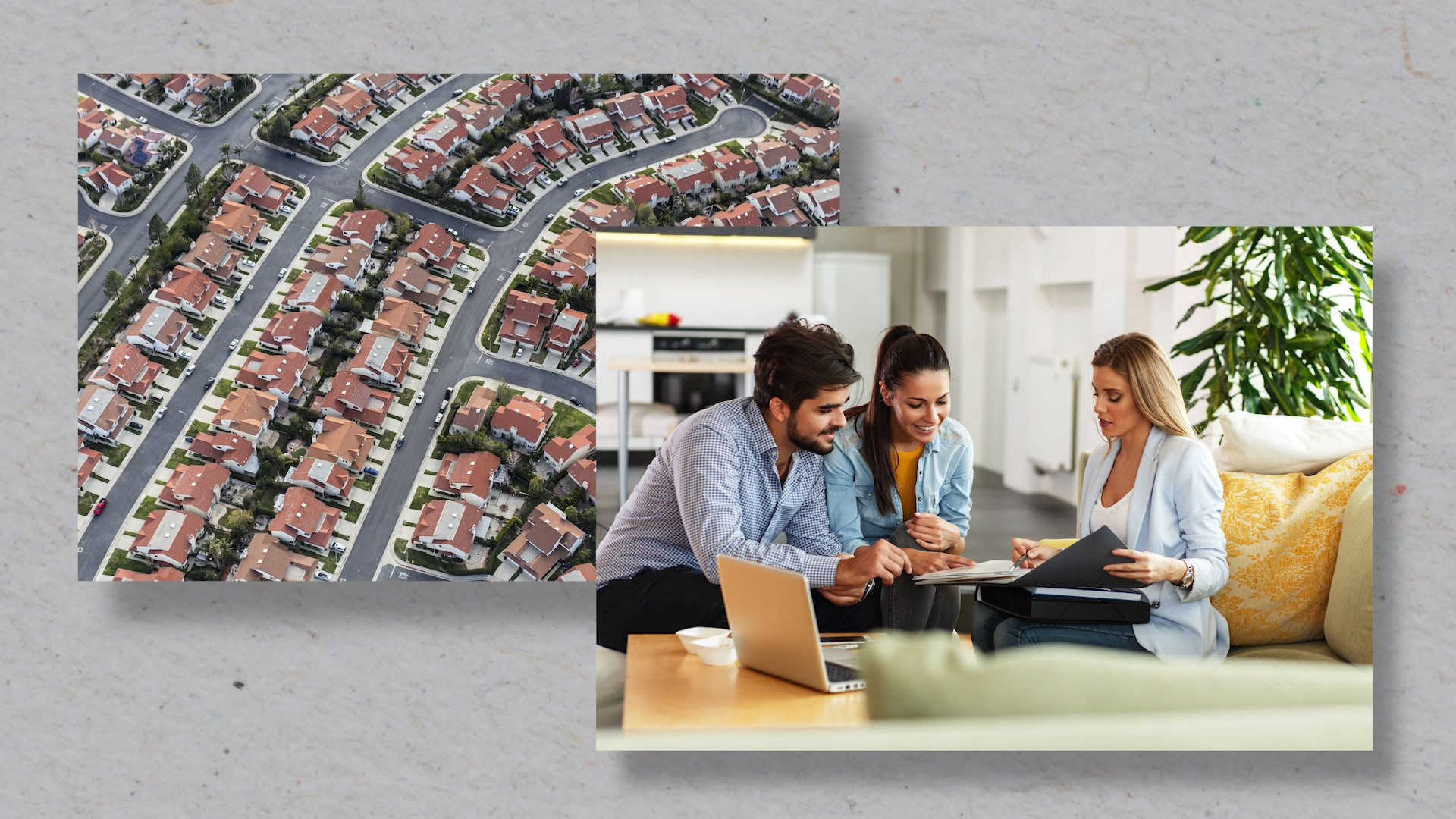An agent showing homeowners comparable sales